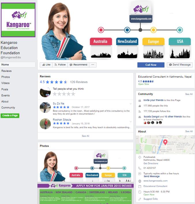 Kangaroo Nepal page management